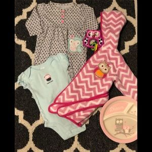 Baby Girl Owl Bundle Size 3-6 Months